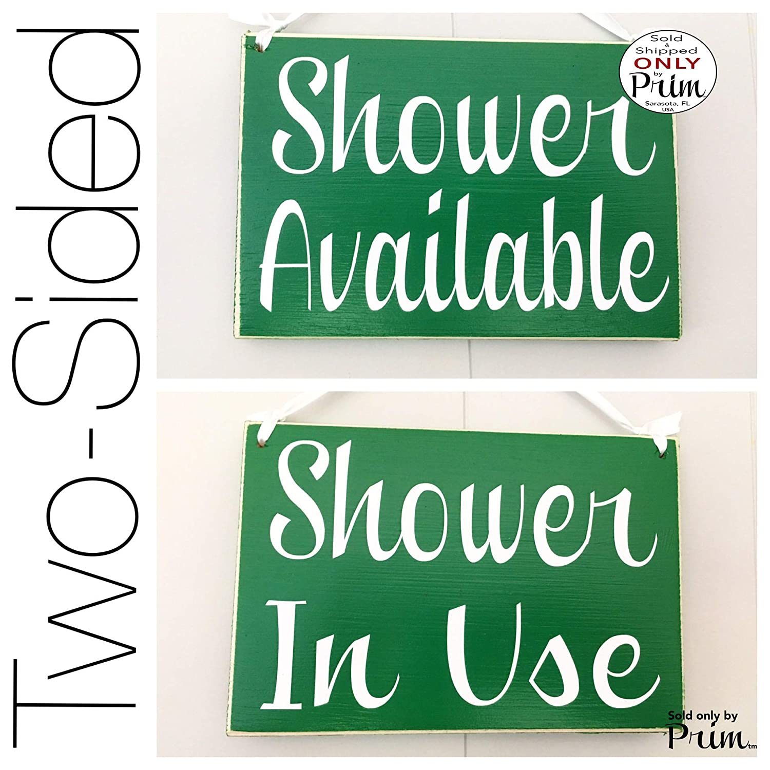 Shower In Use Available 8X6 (Choose Color) Please Do Not Disturb Be With You Shortly Spa In Session Please Do Not Disturb Meeting Office Spa Salon Shhh Speak Softly Custom Wood Sign