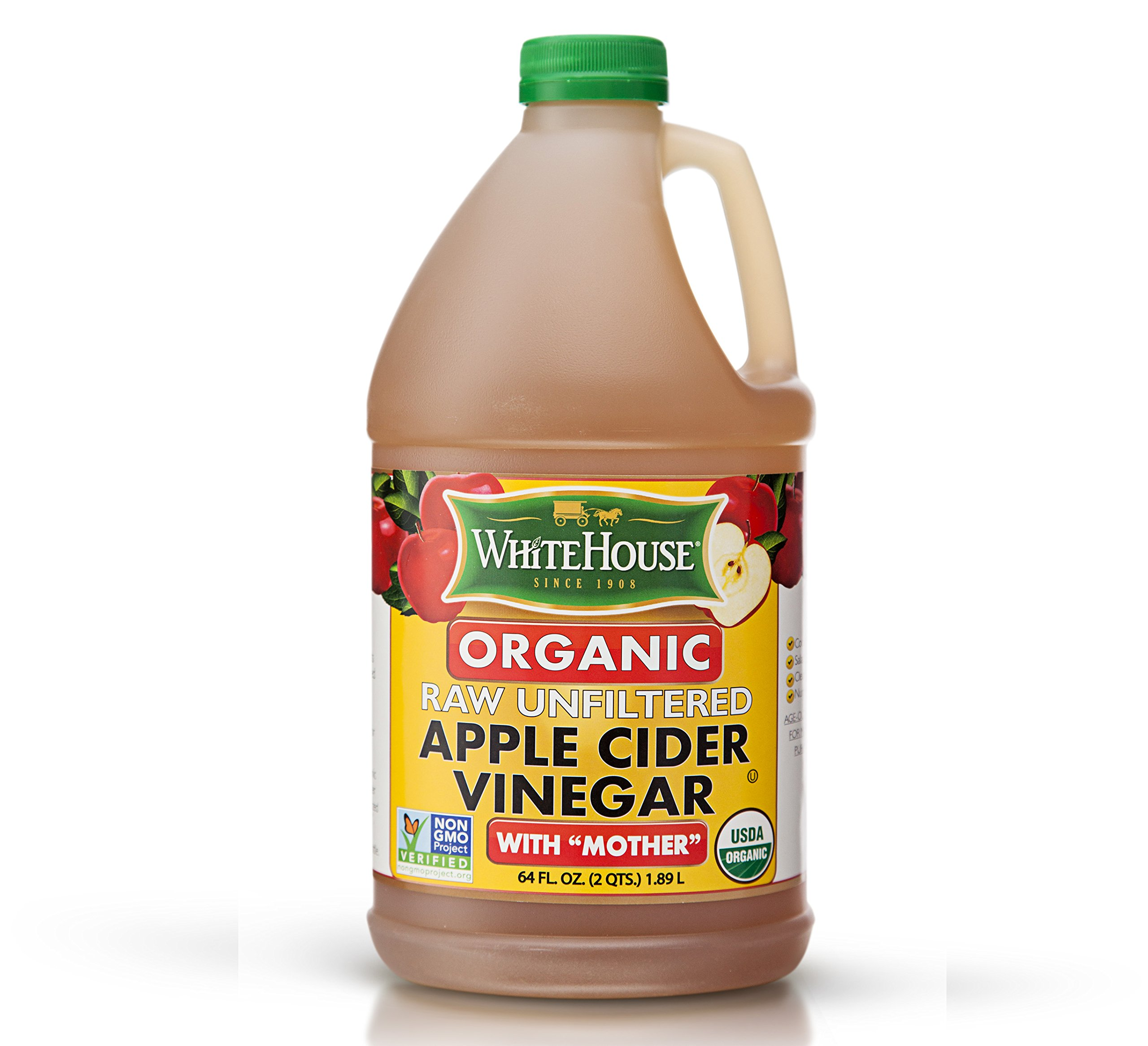 White House Organic Raw Unfiltered Apple Cider Vinegar (64oz) by White House