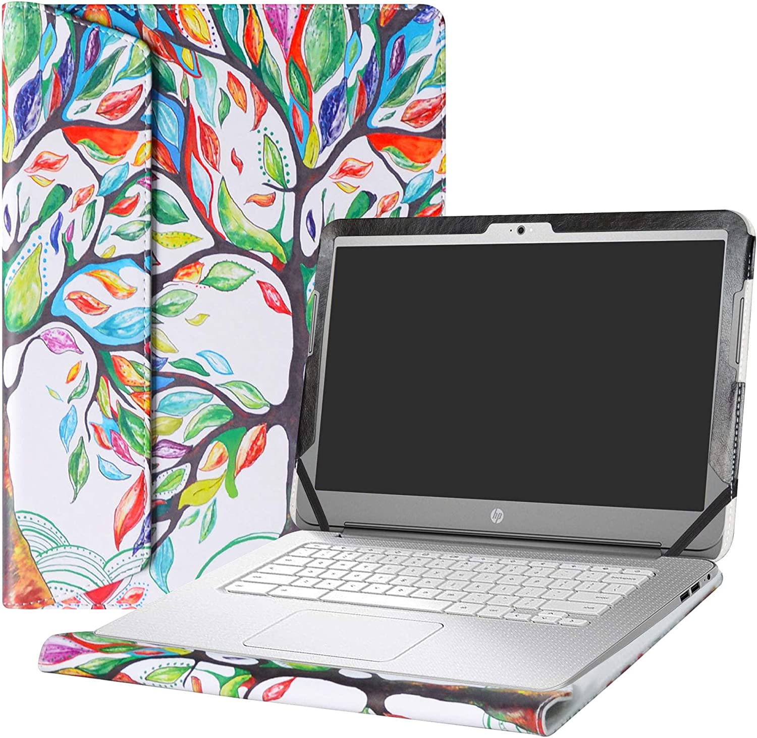 "Alapmk Protective Case Cover for 14"" HP Chromebook 14 14-akXXX 14-XXXX 14-qXXX & HP Chromebook 14 G1 G2 G3 G4 Series Laptop(Warning:Not fit HP Chromebook 14 G5/14-caXXX Series),Love Tree"