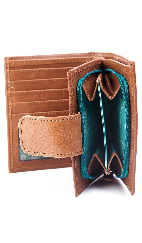 Velez Women Genuine Full Grain Leather Bifold Small Wallets Billeteras de Cuero at Amazon Womens Clothing store:
