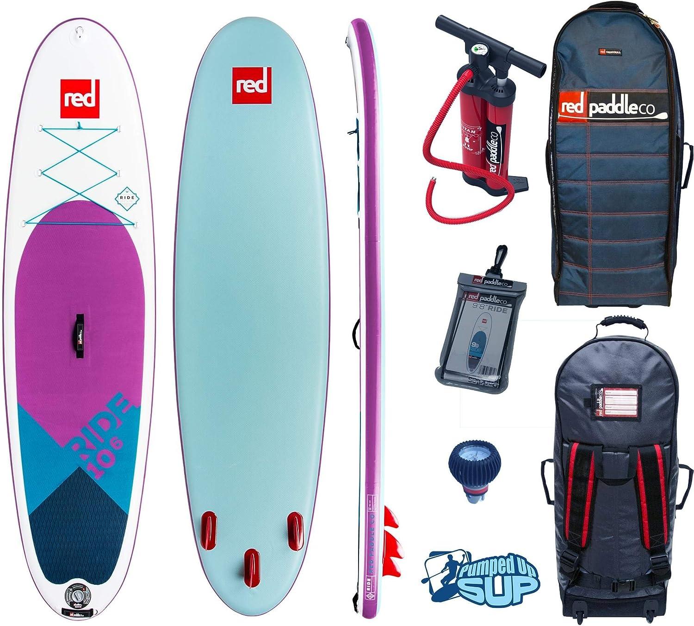 RED Paddle Co Ride MSL 10 6 x 32 SE 2018 Series Includes Bundle. Titan Pump – Backpack – ERS Pressure Gauge Pumped Up SUP Sticker