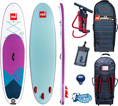 Red Paddle Co Ride MSL 10 6 x 32 SE 2019 Series Includes Bundle. Titan Pump – Backpack – ERS Pressure Gauge Pumped Up SUP Sticker