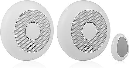 2er-set Mailler détecteurs de fumée verlinkbar extensible télécommande