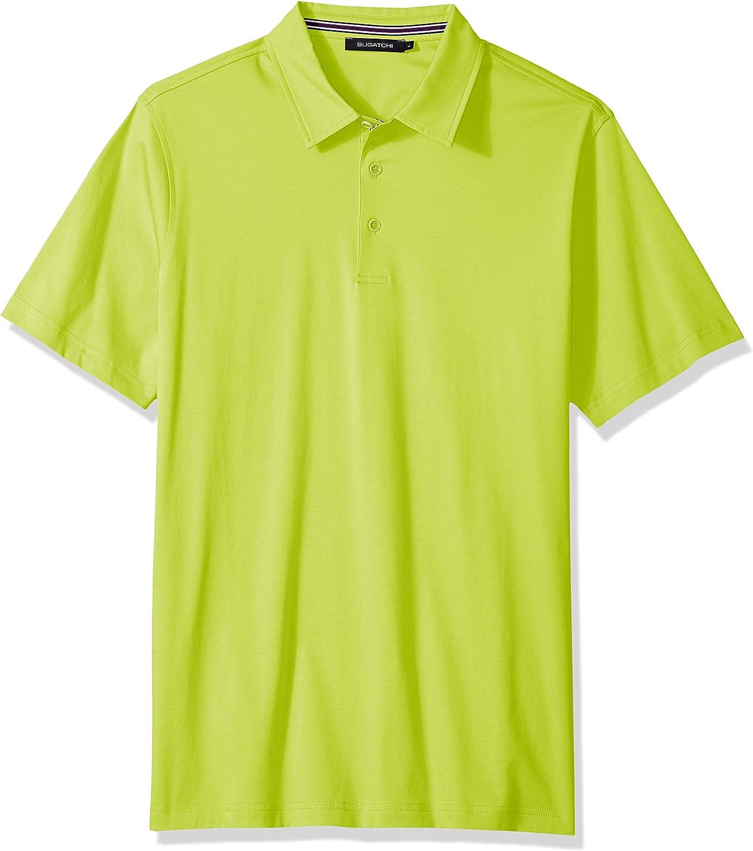 Bugatchi Mens Lightweight Cotton Short Sleeve Knit Shirt