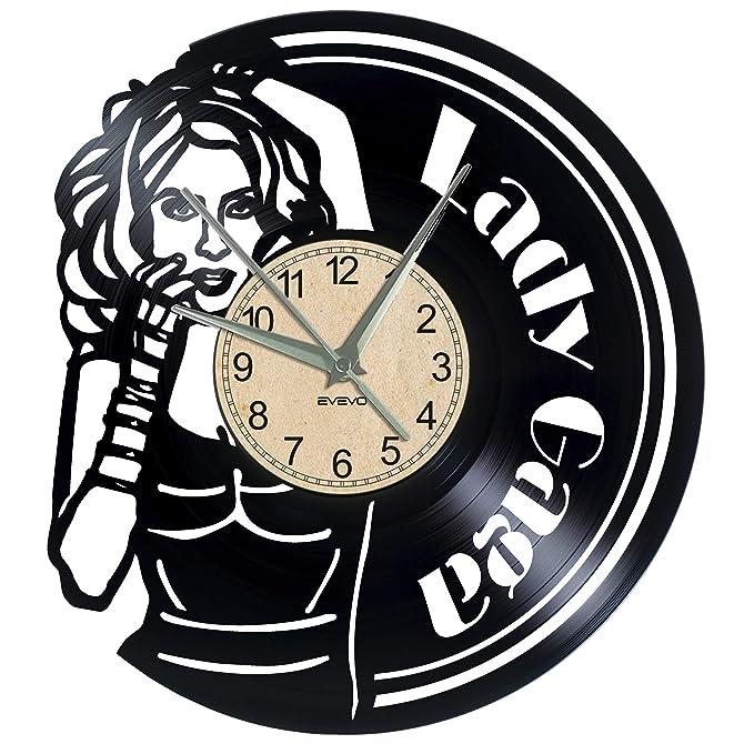 EVEVO Lady Gaga Reloj De Pared Vintage Accesorios De Decoración ...