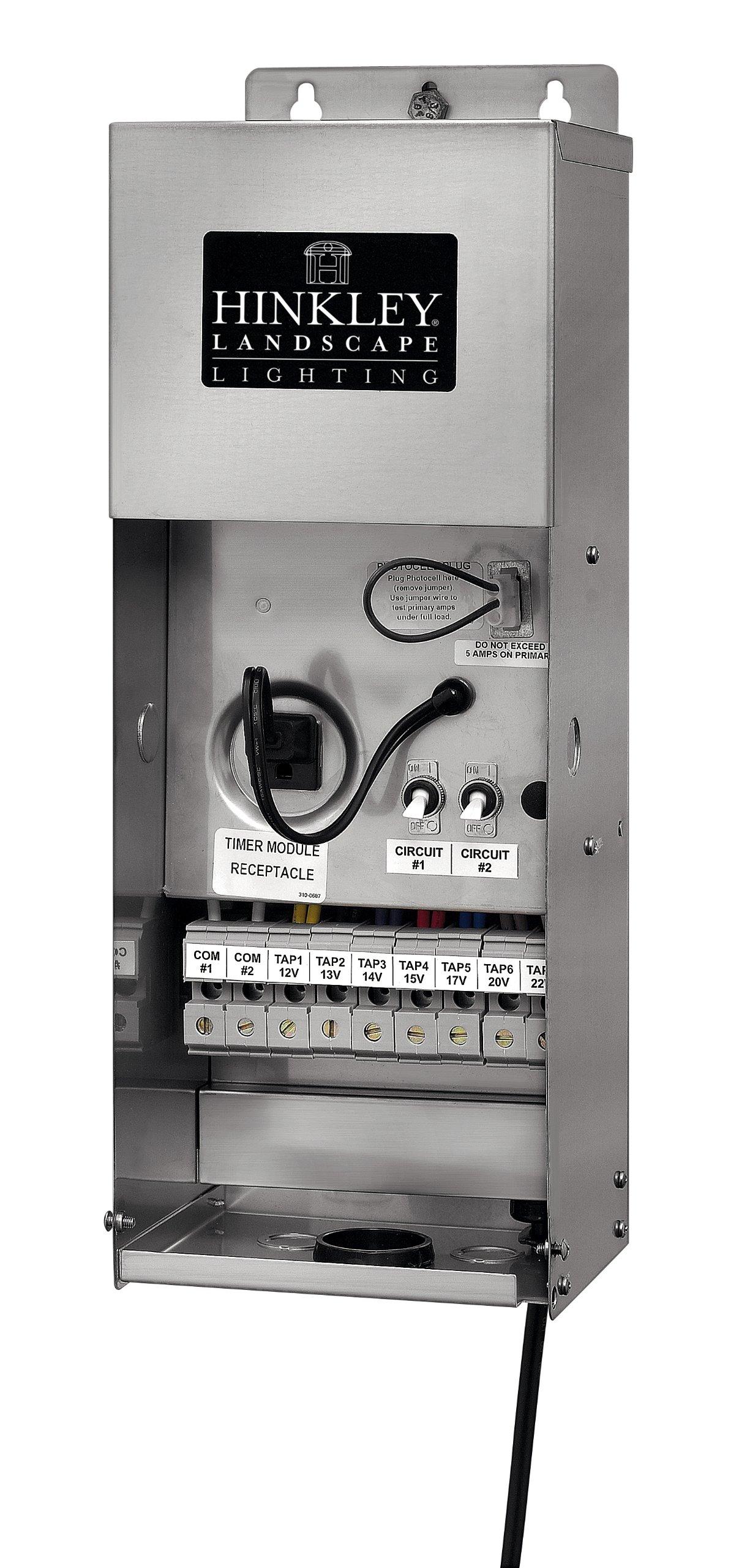 Hinkley Lighting 1222SS Pro Series High Output Multi-Tap 12-12 Volt 1200 Watt Transformer, Stainless Steel