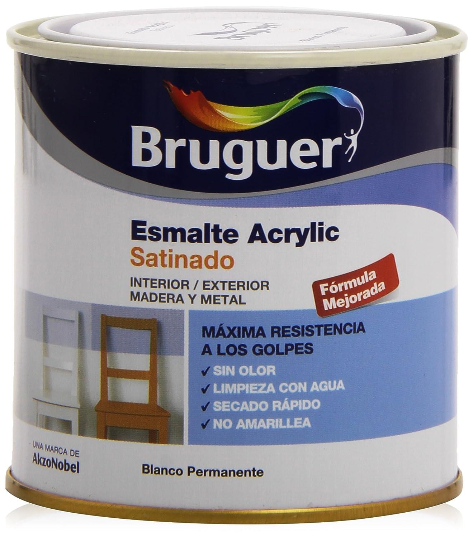 Bruguer 5160660 Pot de peinture acrylique Blanc satin permanent
