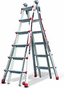 Little Giant Ladder Systems 12026 RevolutionXE, 26 Foot Multi-Use Ladder, Model, Aluminum/Orange