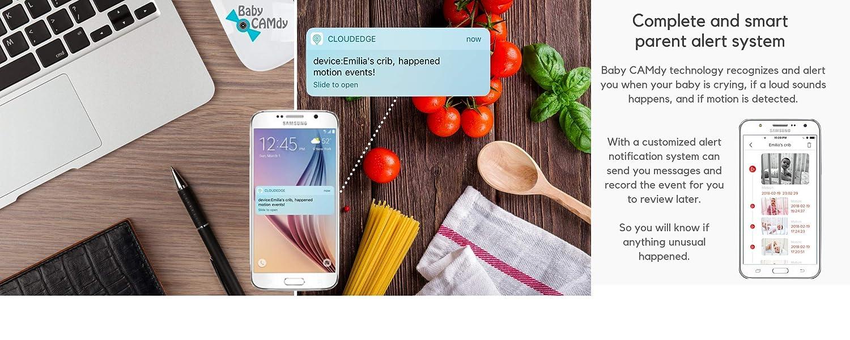 Baby CAMdy Sugar CAMdy Babyphone WiFi Cam/éra HD 1080p⎮Smart APP iOS//Android