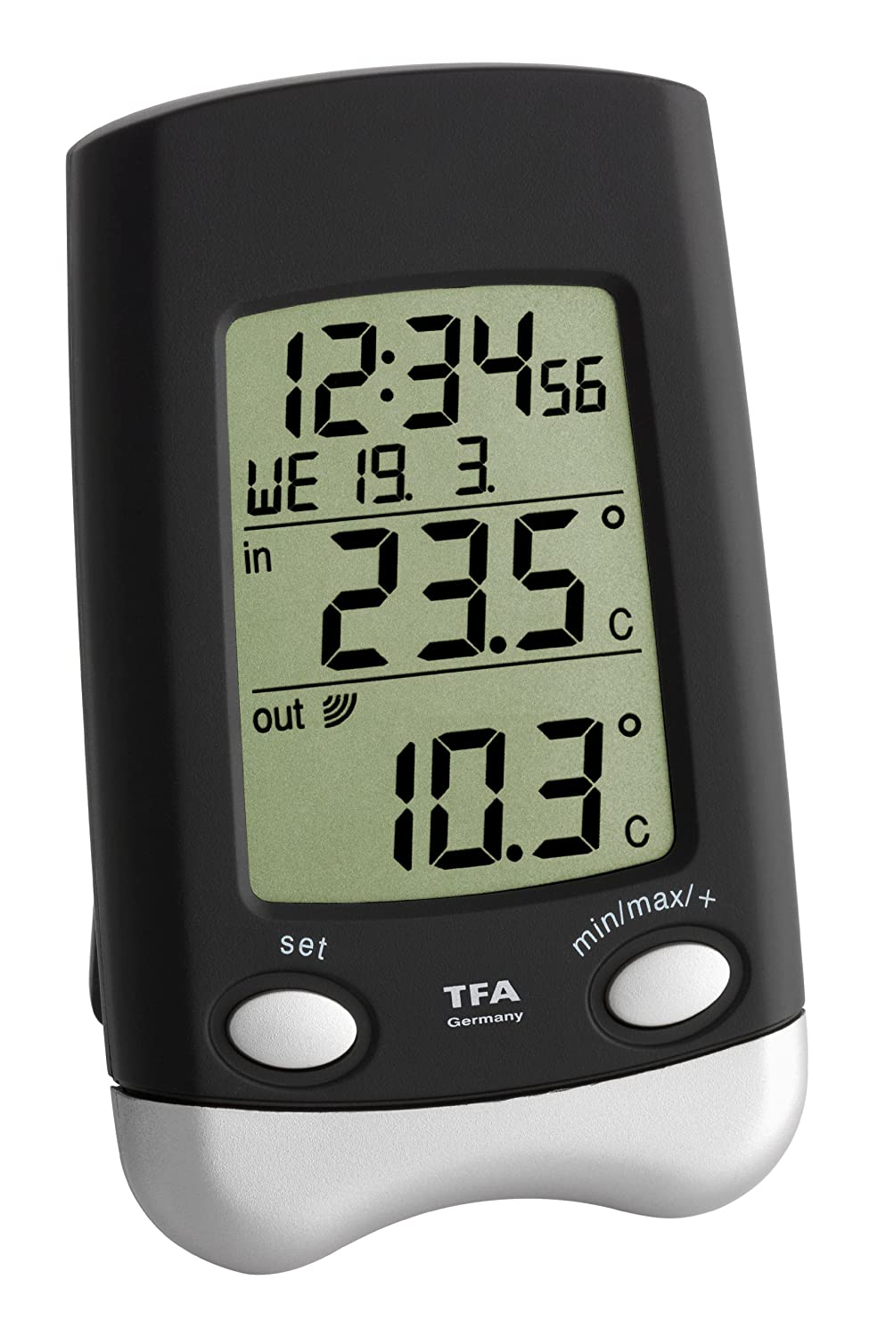 TFA Dostmann GmbH & Co.KG Blooming Weather 30.3016.01.IT Wave Indoor/Outdoor Radio Thermometer - Black