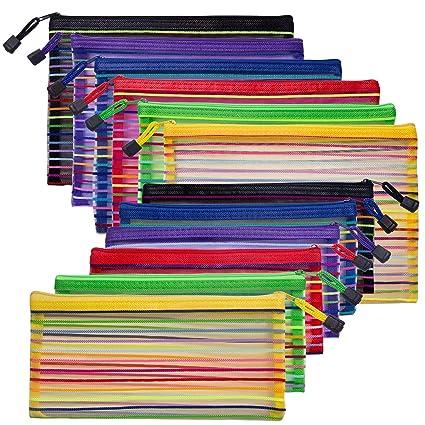 12 paquetes de bolsas de malla con cremallera, estuche de ...