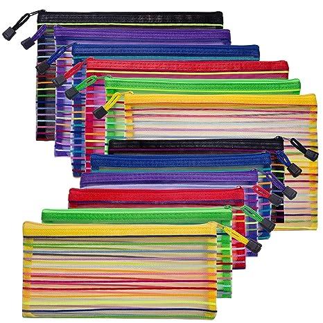 Amazon.com: 12 paquetes de bolsas de malla con cremallera, 2 ...