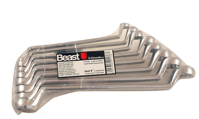 Ringschlü sselsatz geschmiedet 8 teiliger Satz 6-22mm Beast