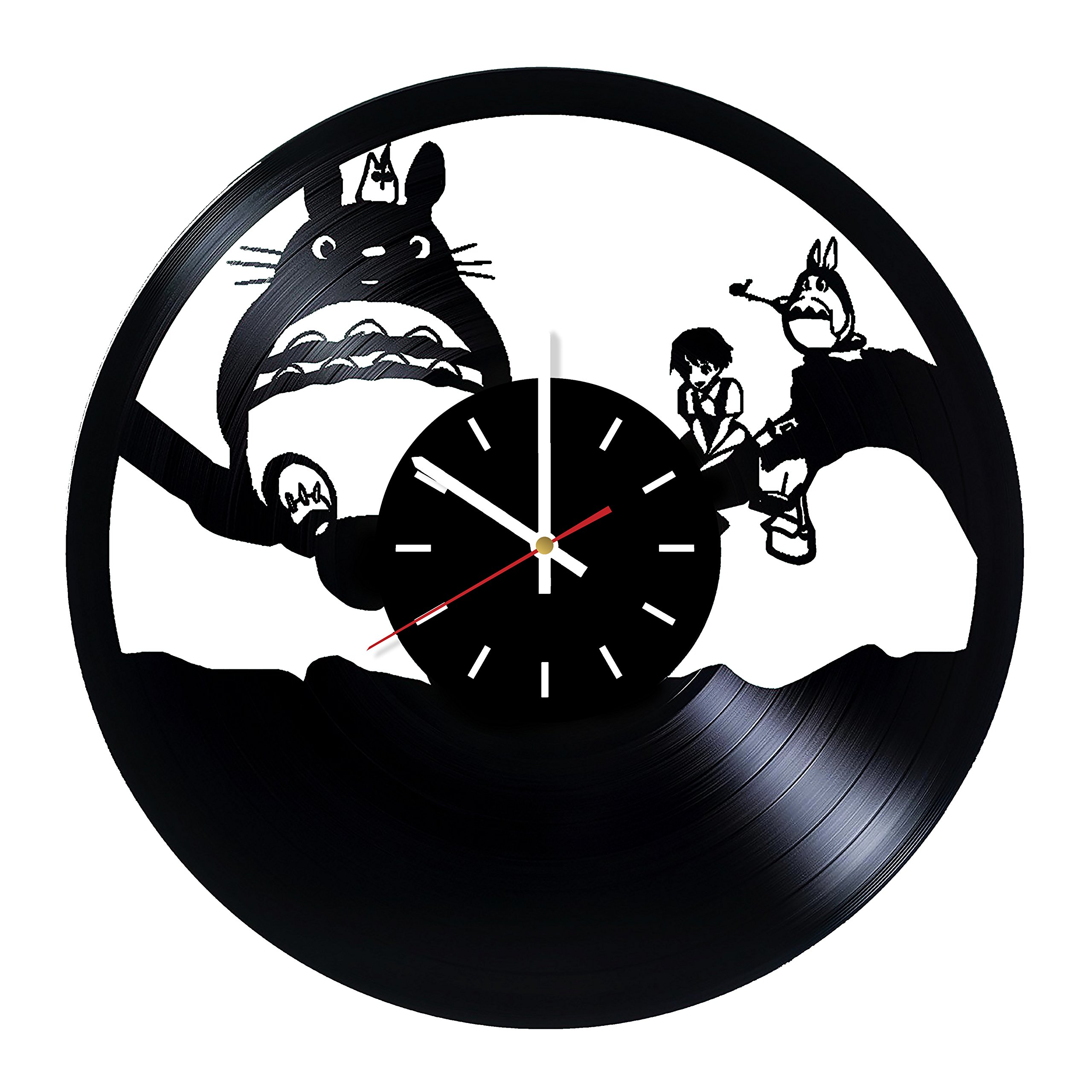 Everyday Arts My Neighbor Totoro Hayao Miyazaki Design Vinyl Record Wall Clock - Get Unique Bedroom or Garage Wall Decor - Gift Ideas for Friends, Brother - Darth Vader Unique Modern Art