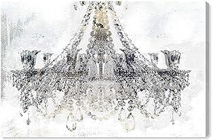 Oliver Gal 'White Gold Diamonds' The Classic Wall Art Decor Collection Contemporary Premium Canvas Art Print