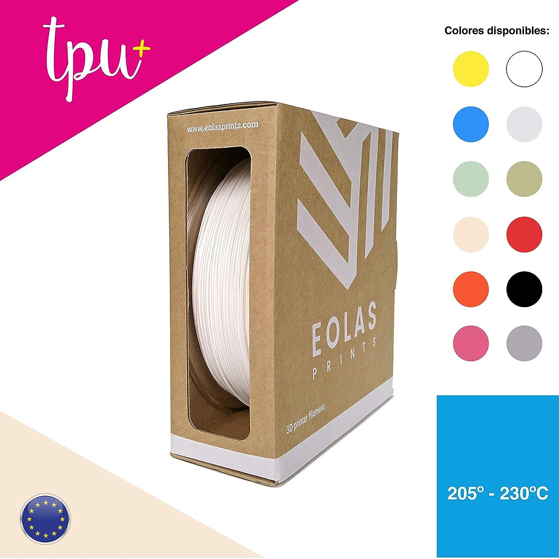 EOLAS Filamento impresión 3D 100% PLA+, Made in Spain, Food safe ...