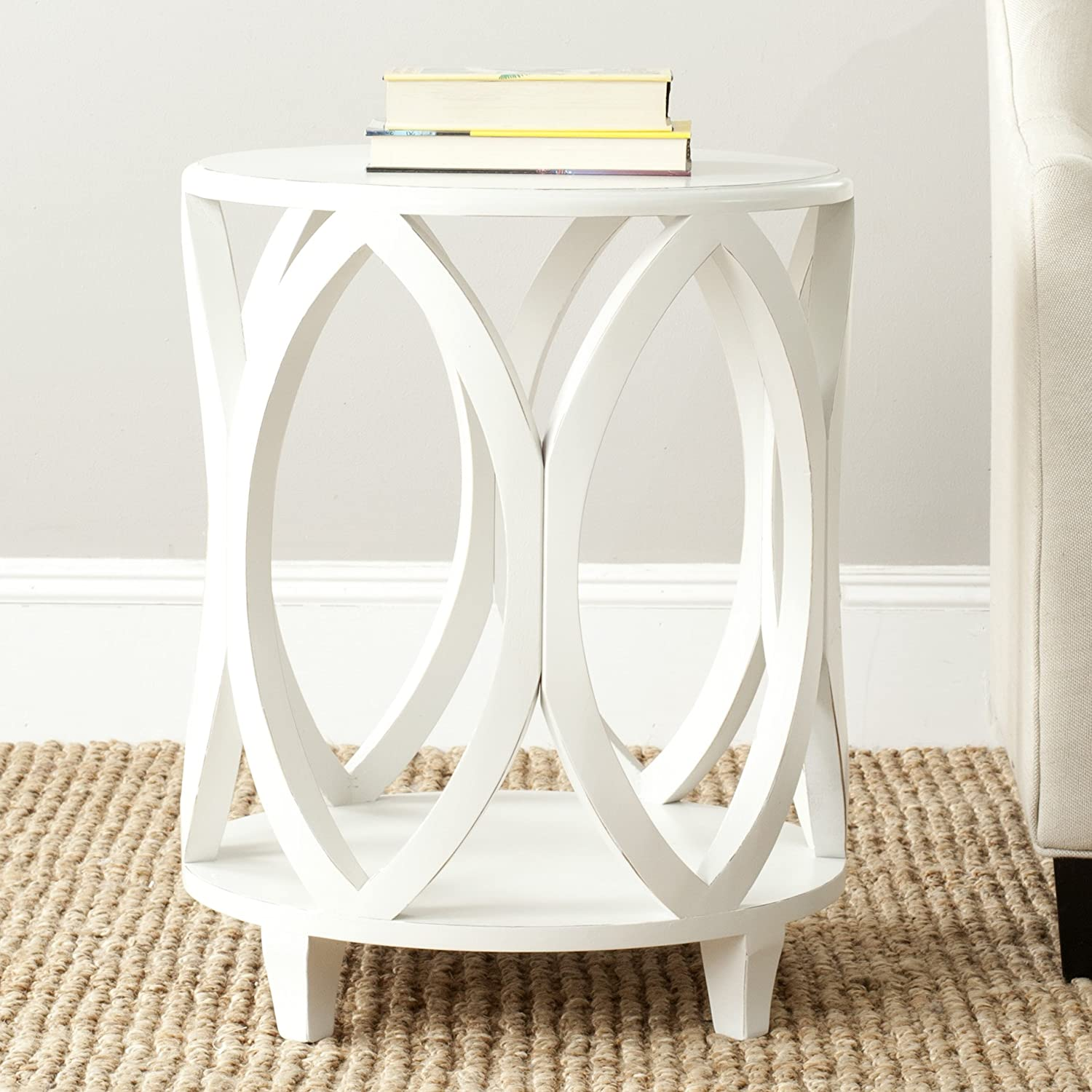 - Amazon.com: Safavieh American Homes Collection Janika Shady White Accent  Table: Kitchen & Dining