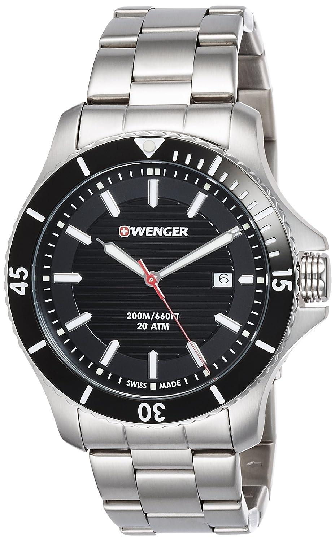 WEGNER Unisex-Armbanduhr 01.0643.118 WENGER SEAFORCE Analog Quarz Edelstahl 01.0643.118 WENGER SEAFORCE
