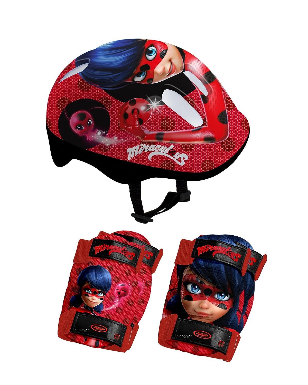 Miraculous Ladybug OMIR204 Set de Protections Mixte Enfant, Rouge MIRXC #Miraculous Ladybug