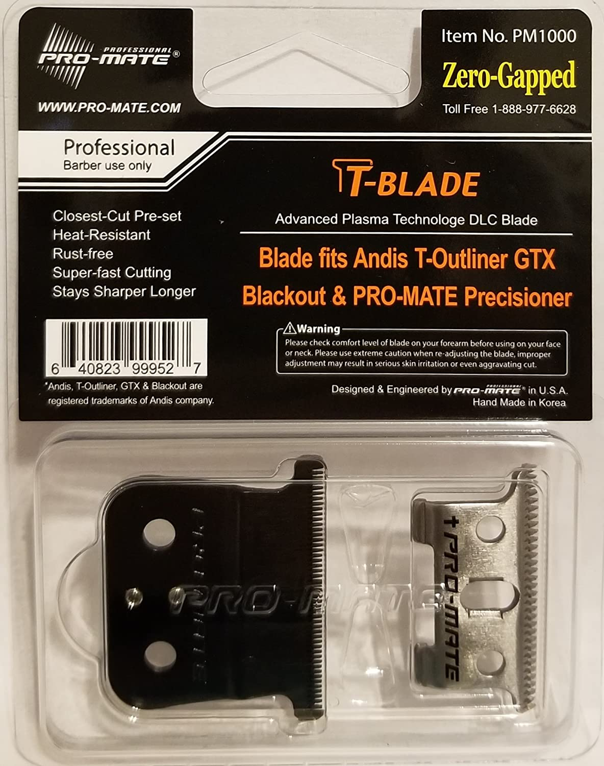 Pro-mate Trimmer Blade fits Andis T-Outliner PM1000