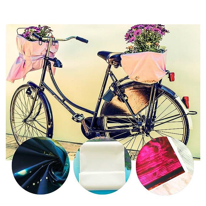 lylycty 10 × 7 m poliéster niños fondo para estudio de fotografía Retro flor bicicleta de estilo fotos personalizados prop fondos telón de fondo rústico 107 ...