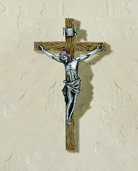 62142 20 Crucifix in Antique Silver Roman Inc