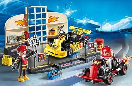 Playmobil StarterSet - City Action Taller Karts Playsets de Figuras de jugete, Color Multicolor (Playmobil 6869)