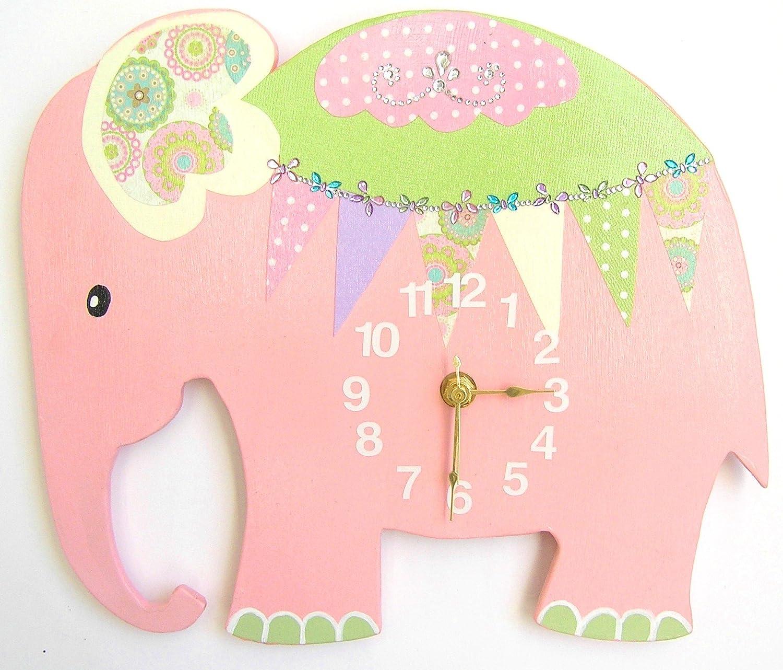 Amazon nursery elephant wall clock elephant hanging wall amazon nursery elephant wall clock elephant hanging wall clock nursery wall clock nursery clock baby amipublicfo Image collections