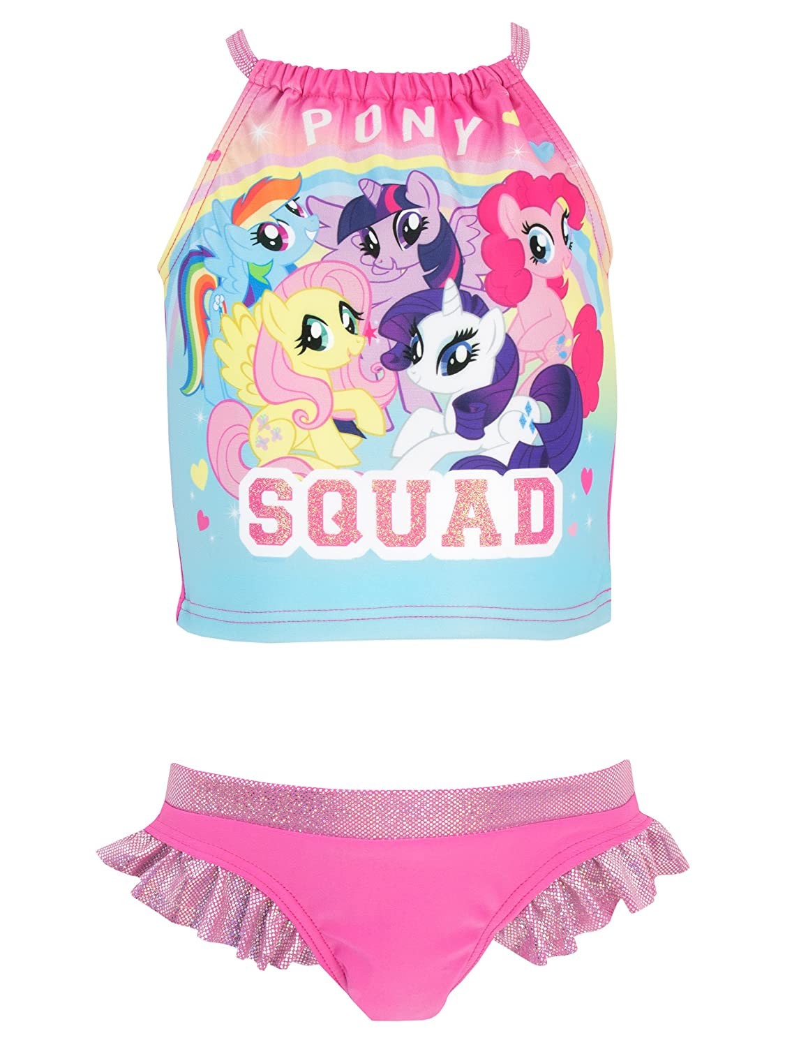 My Little Pony Girls' Pony Squad Two Piece Swim Set