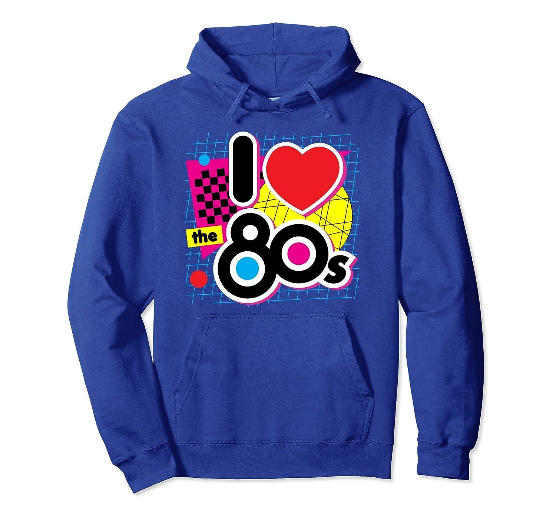 80s Love I Heart the Eighties Retro Graphic Hoodie (Dark)-alottee gift