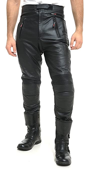 removable CE armour Jeans Biker Trousers MAX MPH ULTIMATE Leather Motorcycle