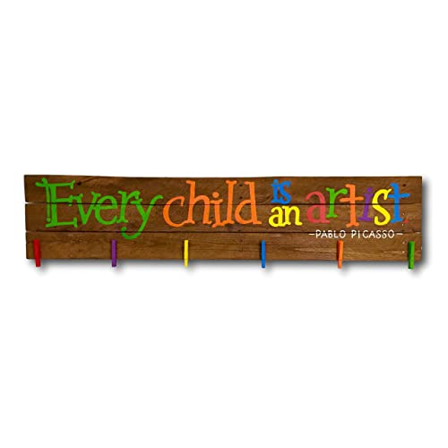 Nursery Decor Every Child is an Artist Wood Sign Kids Room Kids Wall Art Display Handcrafted