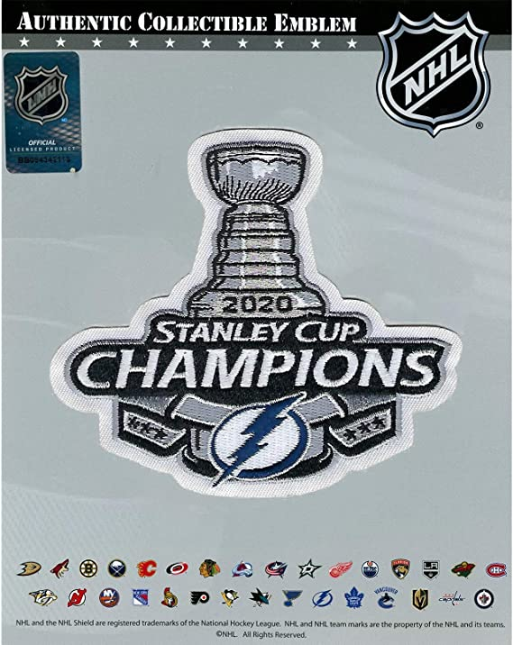 2020 Stanley Cup Final /& Champions Tampa Bay Lightning Patch Combo