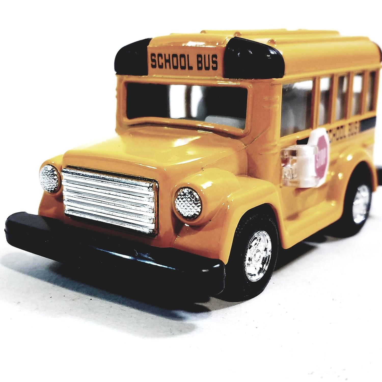 Classic Short Yellow Public City School Bus 4 1 48 Scale Diecast Commercial Passengr Vehicle