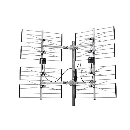 homevision technology ant7297 electronic master multidirectional digital hdtv outdoor tv antenna, silver tv antenna schematic outside tv antenna diagram #8