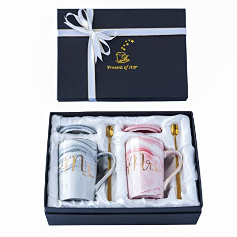 Wedding Gifts For Couples.Jumway Mr And Mrs Coffee Mugs Wedding Gift Mr And Mrs Mugs Set For Bride And Groom Gift For Bridal Shower Engagement Wedding And Married