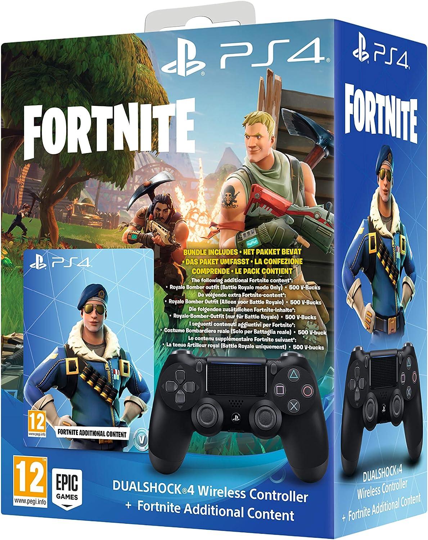 Sony DUALSHOCK 4 Fortnite Bundle Gamepad Playstation 4 Negro DUALSHOCK 4 Fortnite Bundle, Gamepad, Playstation 4, Analógico/Digital, D-Pad, Seleccionar, Inicio, Vibración encendida/apagada,: Amazon.es: Videojuegos