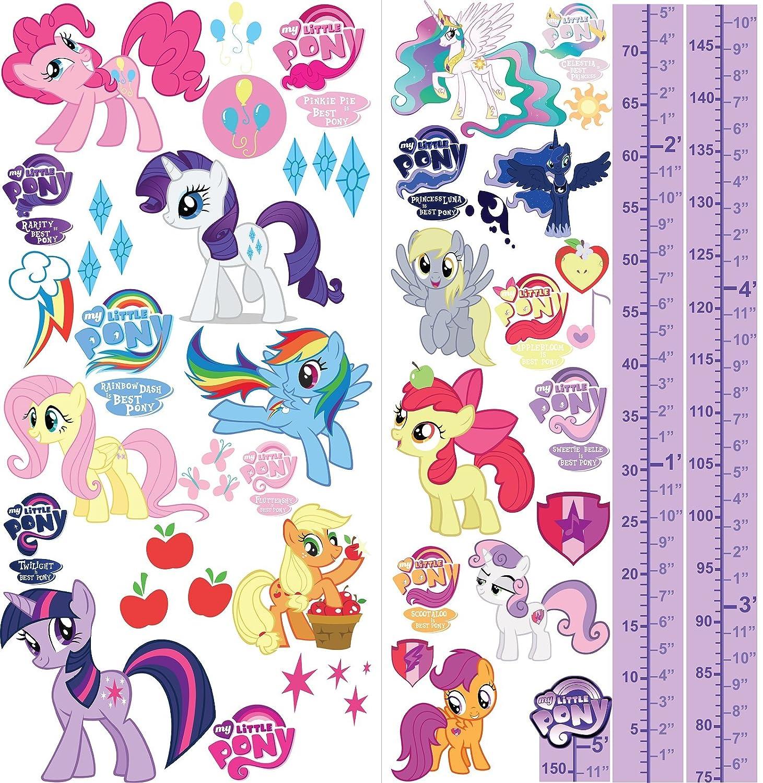 My Little Pony –  Adesivi da parete 3D camera da letto ragazzi ragazze grandi bambini S2AM PrintNow