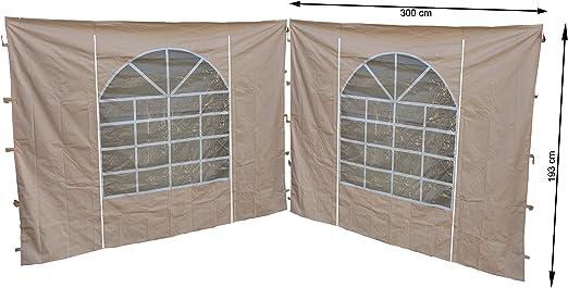 Quick-Star 2 Laterales con Ventana de PVC 300 x 195 cm Carpa para Sahara de 3 x 3 m página Pared Arena: Amazon.es: Jardín