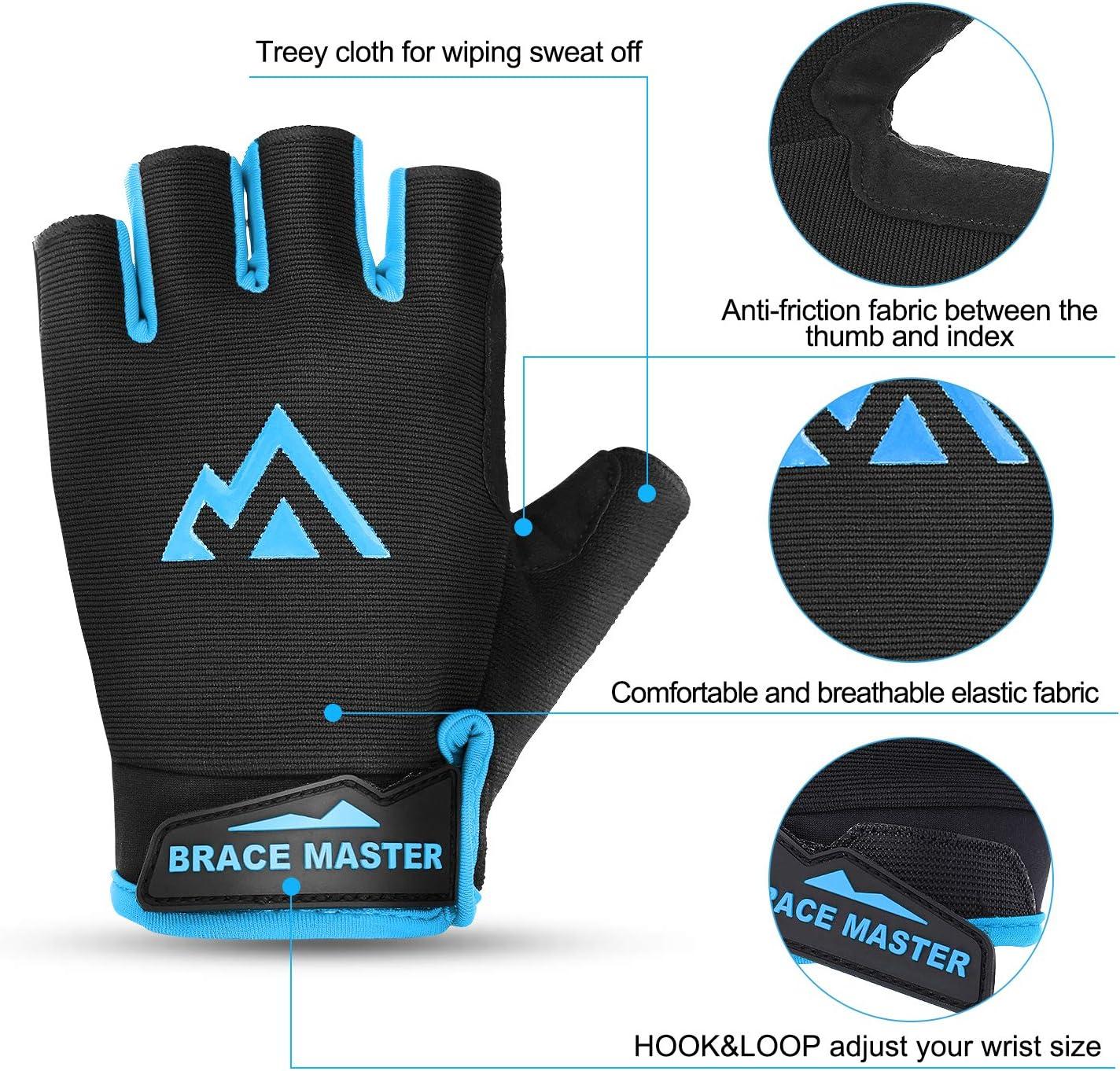 RockBros Pad Breath Cycling Half Finger Sporting Protective Short Gloves