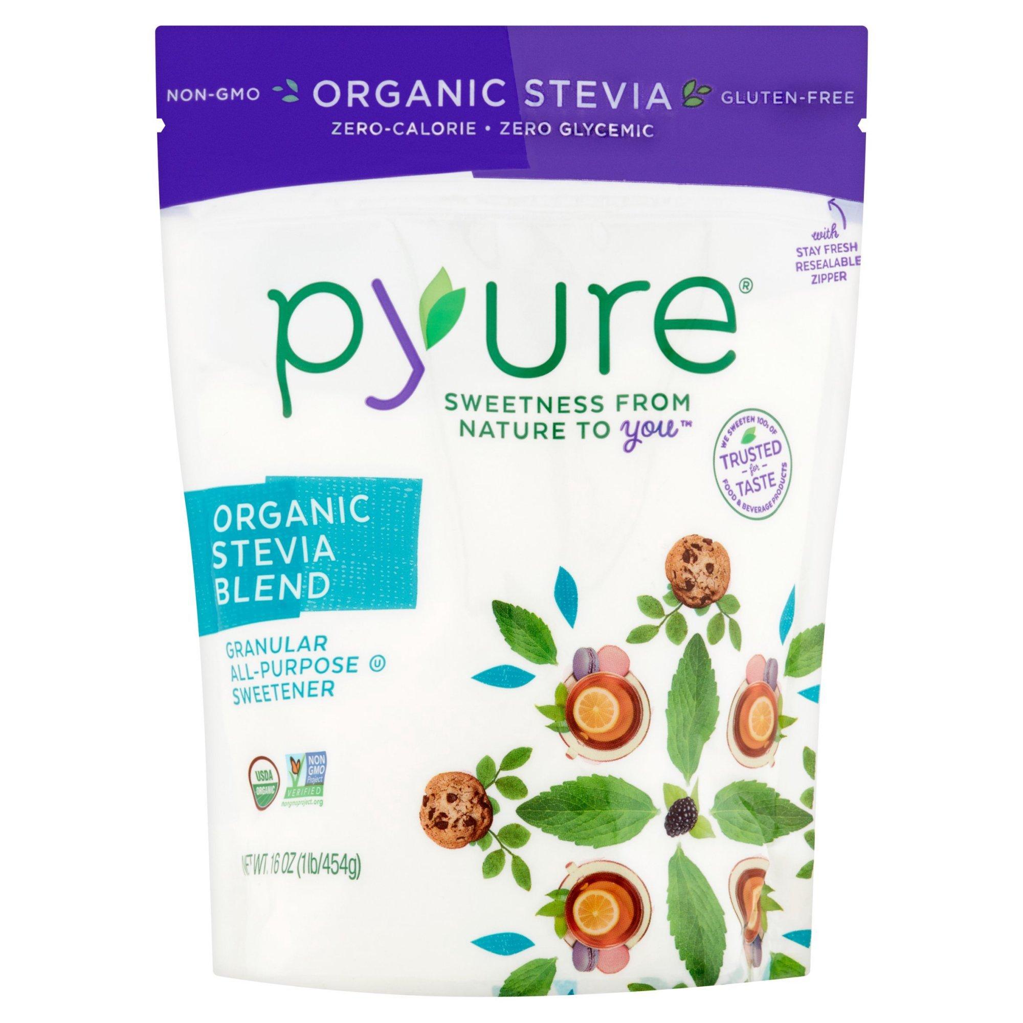 Pyure Organic Stevia Blend Granular All-Purpose Sweetener, 16 oz (Pack of 3)