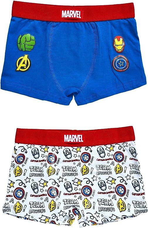 Calzoncillos Bóxer Niño Marvel Avengers Iron Man, Capitan America, Hulk | 100% Algodón Suave | Paquete de 2 | 6-8 - 12 Años (12 años): Amazon.es: Ropa y accesorios