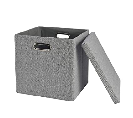 Attrayant Collapsible Storage Cubes Bins 13u0026quot;x13u0026quot;13u0026quot;, Foldable  Heavy Duty Burlap