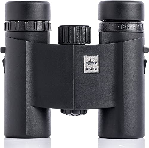 DAJICHENG Binoculars, Asika Optics Compact Bird Watching Telescope 8X 25 Mini Pocket with Case, Roof Prism for Shooting, Hunting, Hiking