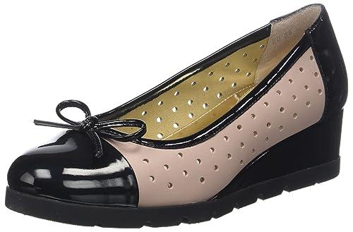 Stonefly Milly 4 Patent/Nappa, Zapatos con Plataforma para Mujer, (Black/Cuban Sand I88), 38 EU: Amazon.es: Zapatos y complementos