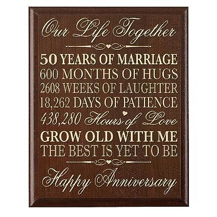 Amazon.com: LifeSong Milestones 50th Wedding Anniversary Gifts for ...