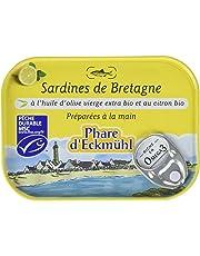 Phare d'Eckmül Sardines Citron Huile Olive Bio 135 g - Lot de 3