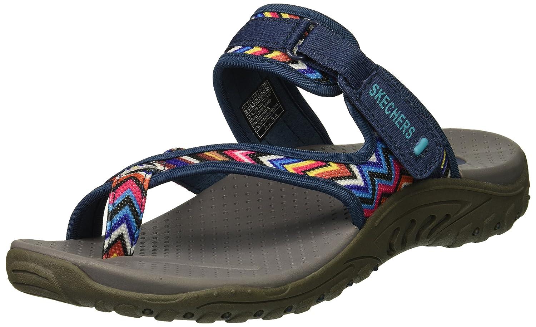 Skechers Women's Reggae-Zig Swag Sandals Flip-Flop B07B53CNPH 9.5 W US|Navy