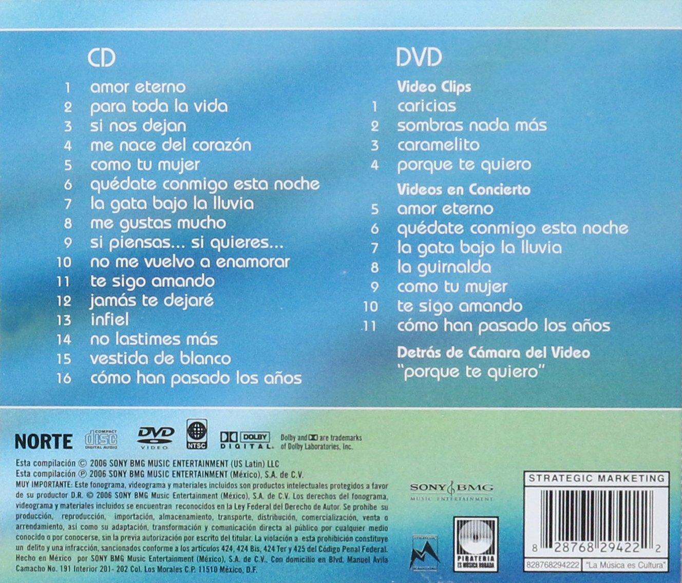 Rocio Durcal - Rocio Durcal (Amor Eterno Cd Dvd Sony Bmg 294222) - Amazon.com Music