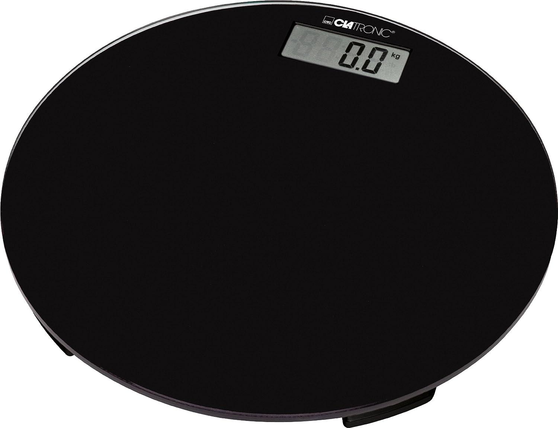 Clatronic PW 3369 - Báscula circular, color negro